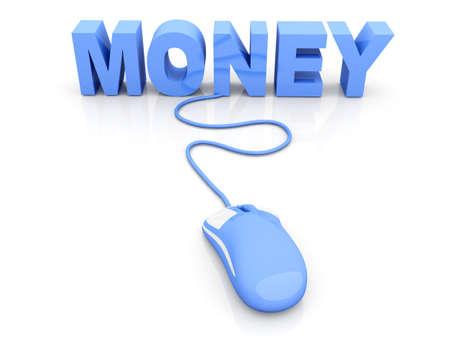 Money click. 3D rendered Illustration. Isolated on white. Stock Illustration - 10709893
