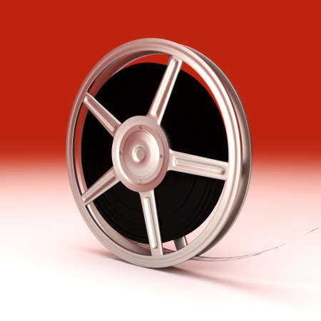 unbalanced: A Film reel. 3D rendered Illustration. Unbalanced lightning.  Stock Photo