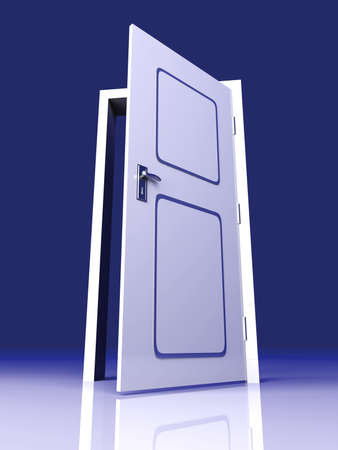 possibilities: The Door is open for you... 3D rendered Illustration.
