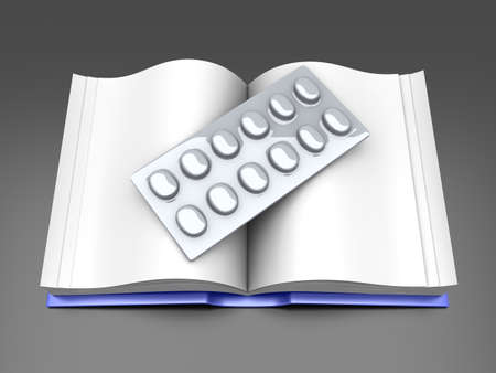 pharma: Pharma book. 3D rendered Illustration.