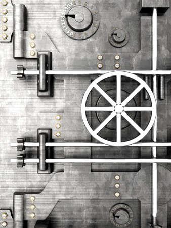 3D Illustratie. Een bank kluis deur.