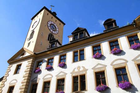 regensburg: Historic building in Regensburg, Germany, Europe.