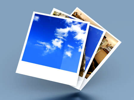 Instant photo frames. 3D rendered illustration.  illustration