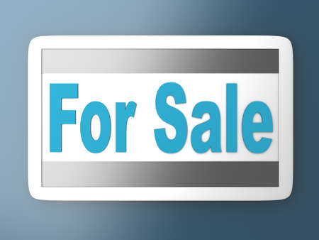 For Sale sign. 3D rendered illustration.   illustration
