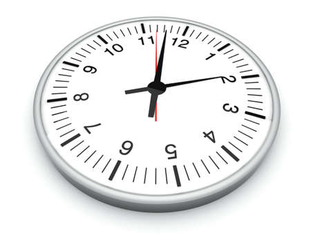 A Clock. 3D rendered Illustration. Isolated on white.   illustration