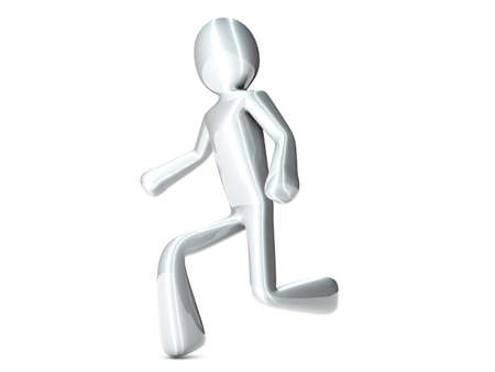 A cartoon runner. 3D rendered Illustration. Isolated on white.  illustration