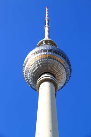 The TV Tower located on the Alexanderplatz in Berlin, Germany.