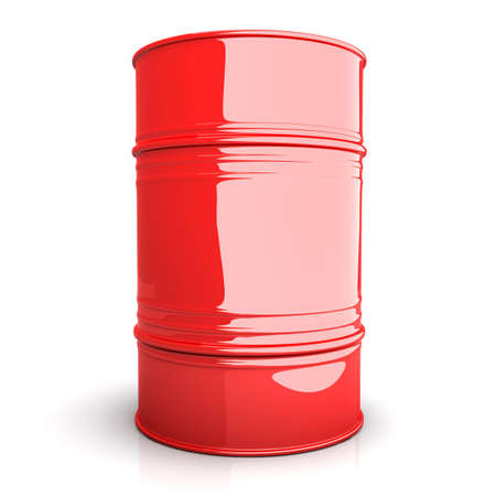 A industrial Barrel. 3D rendered Illustration. Isolated on white. Stock Illustration - 11545329