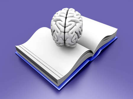 psychiatric: Psychologic  Psychiatric  Neurologic literature. 3d rendered Illustration.  Stock Photo
