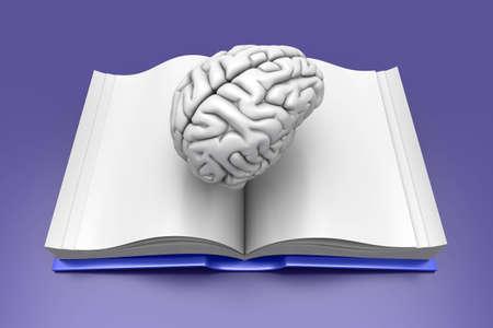 psychologic: Psychologic  Psychiatric  Neurologic literature. 3d rendered Illustration.  Stock Photo