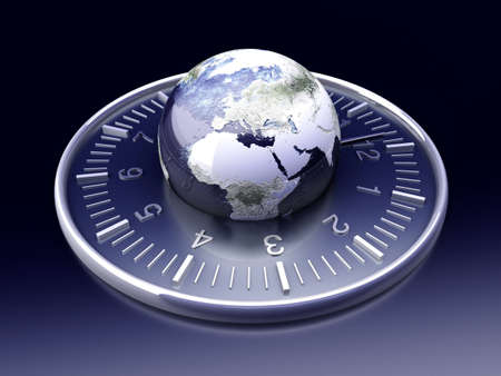 timezone: World time. 3D rendered Illustration.