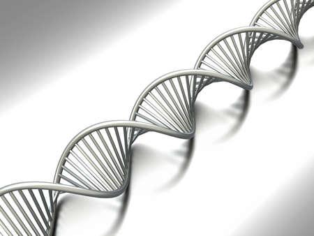 chromosomes: A symbolic DNA model. 3D rendered illustration.