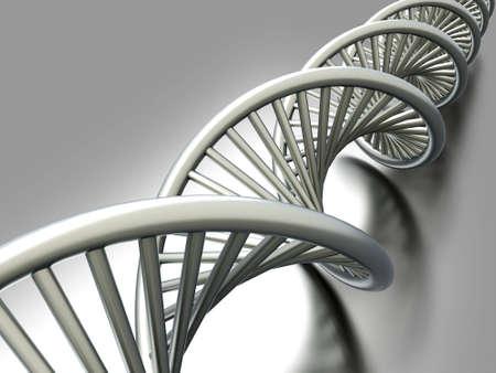 A symbolic DNA model. 3D rendered illustration. Stock Illustration - 11545343