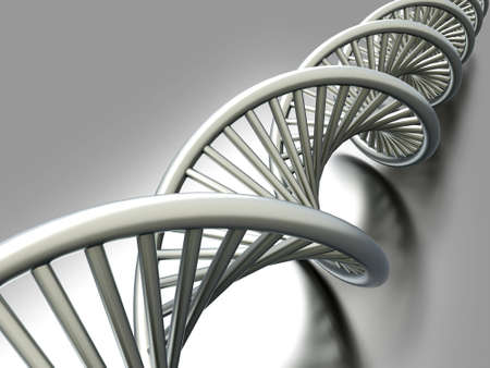A symbolic DNA model. 3D rendered illustration.