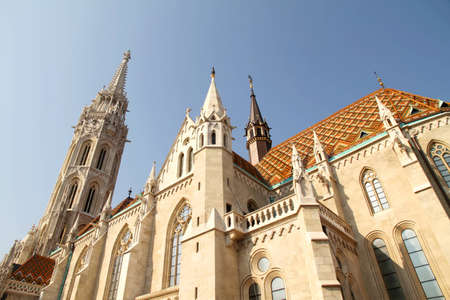 The Matthias Church in the Fisher Bastion in Budapest, Hungary, Europe. photo