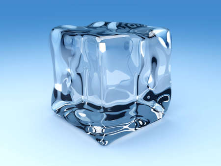 3D rendered Illustration. An ice cube. illustration