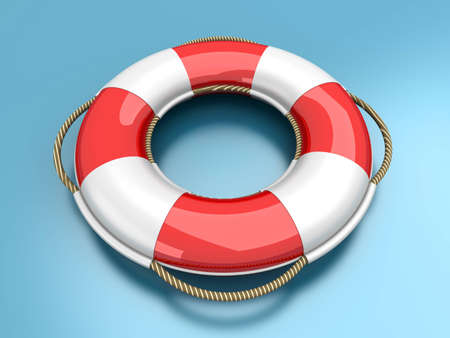 swimming belt: A life belt. 3d rendered Illustration. Stock Photo