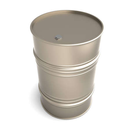 A industrial Barrel. 3D rendered Illustration. Isolated on white. Stock Illustration - 11546050