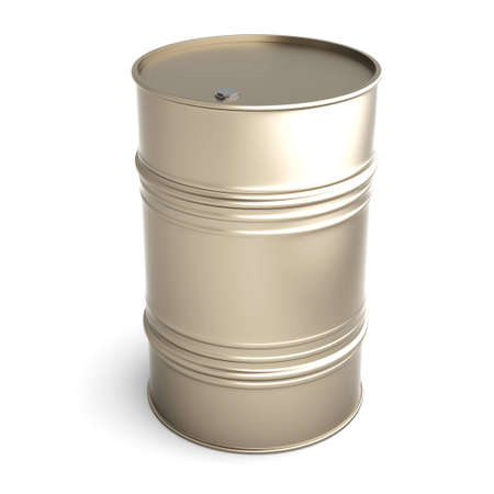 A industrial Barrel. 3D rendered Illustration. Isolated on white. illustration
