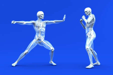 aggressive people: A medical visualization of human anatomy. 3D rendered Illustration.