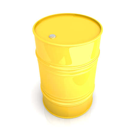 A industrial Barrel. 3D rendered Illustration. Isolated on white. Stock Illustration - 11868969