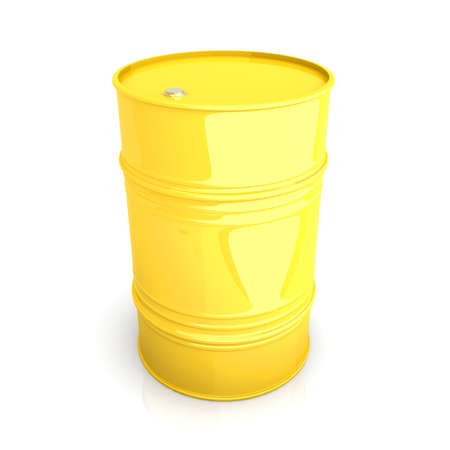A industrial Barrel. 3D rendered Illustration. Isolated on white. Stock Illustration - 11868968