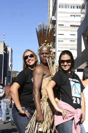 Gay Parade in the Center of Sao Paulo, 06.06.2010. Stock Photo - 11767782