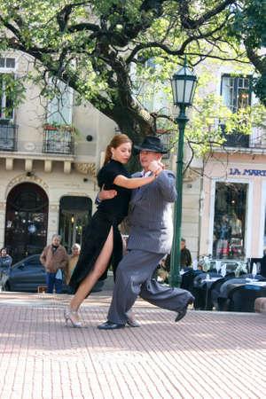 tango dance: Tango Dancers in Buenos Aires.