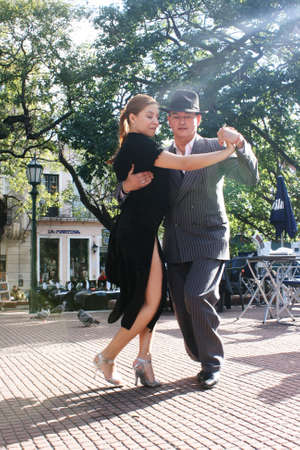 Tango Dancers in Buenos Aires.