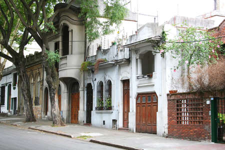 montevideo: Sdiewalk in Cordon, Montevideo, Uruguay.