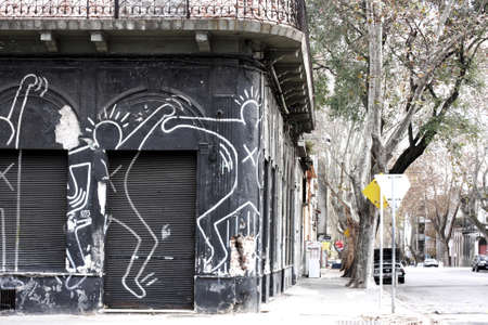 montevideo: An old store in a poor neighborhood of Montevideo  Uruguay.    Editorial