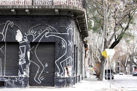 An old store in a poor neighborhood of Montevideo  Uruguay.    Editorial