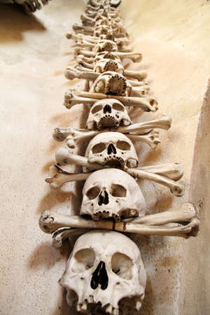 catholic chapel: The Sedlec Ossuary is a small Roman Catholic chapel, located beneath the Cemetery Church of All Saints (Czech: Hr�bitovn� kostel Vs�ech Svaty�ch) in Sedlec, a suburb of Kutn� Hora in the Czech Republic. The ossuary is estimated to contain the skeletons of
