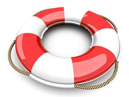 swimming belt: A life belt. 3d rendered Illustration. Isolated on white.