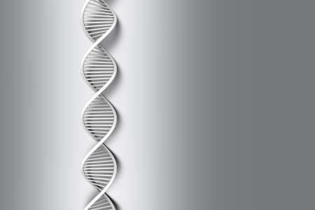 dna strand: A symbolic DNA model. 3D rendered illustration.