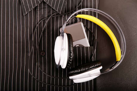 A corporate MP3 device in a shirts pocket. Stock Photo - 11997686