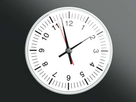 A Clock. 3D rendered Illustration. Stock Illustration - 12108236