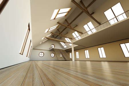 Architecture interior visualisation. 3D rendered Illustration. illustration