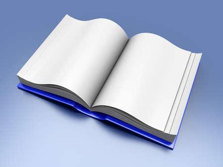 A open Book. 3D rendered Illustration. Stock Illustration - 12342810