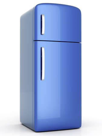A classic Fridge. 3D rendered Illustration. Isolated on white. illustration