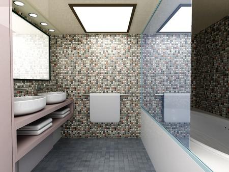 Moderne badezimmermöbel  Badezimmer Modern Lizenzfreie Vektorgrafiken Kaufen: 123RF