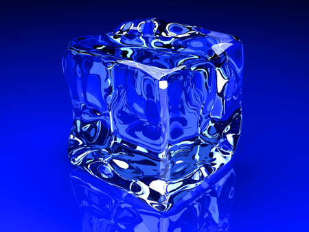 3D rendered Illustration  A Ice cube  Stock Illustration - 12719941