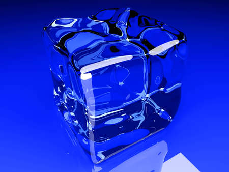 refrigerate: 3D rendered Illustration  A Ice cube  Stock Photo