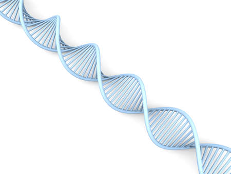 helix: A symbolic DNA model  3D rendered illustration  Isolated on white  Stock Photo