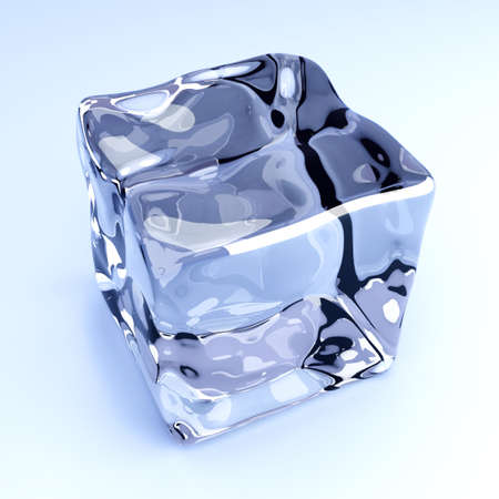froze: 3D rendered Illustration  A group of Ice cubes