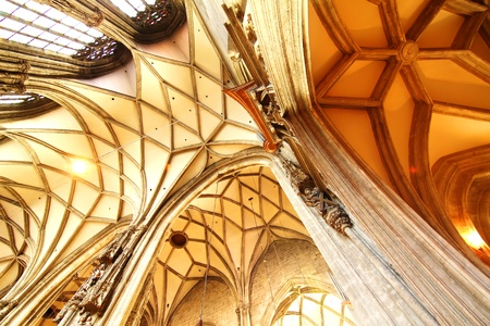 Interior of the Cathedral of St  Stephan in Vienna, Austria s Stock Photo