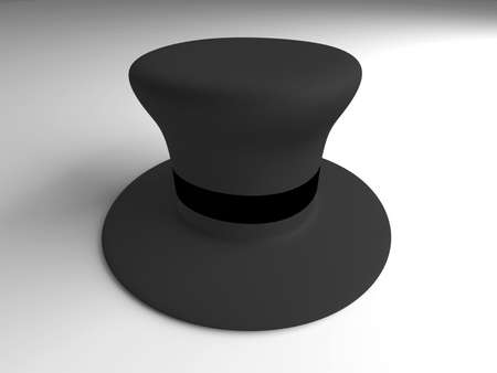 A classic Cylinder Hat  3D rendered Illustration   illustration