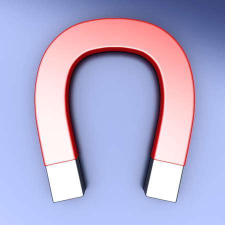 magnetize: A generic Magnet  3D rendered illustration    Stock Photo