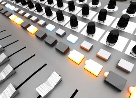 A Mixing board  3D rendered illustration  illustration