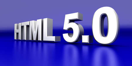 5 0: HTML 5 0  3D rendered Illustration    Stock Photo